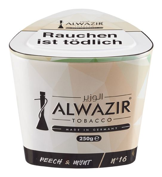 "Al Wazir Tobacco ""No 16 Peech & Mynt"" 250g"