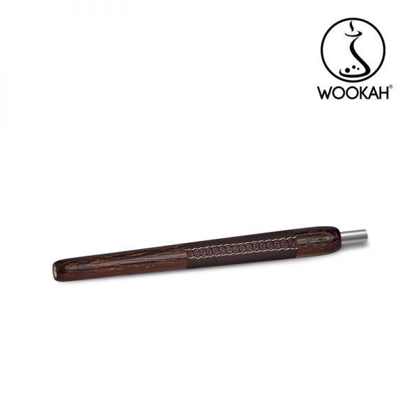 Wookah Holzmundstück - Leder Wenge Brown