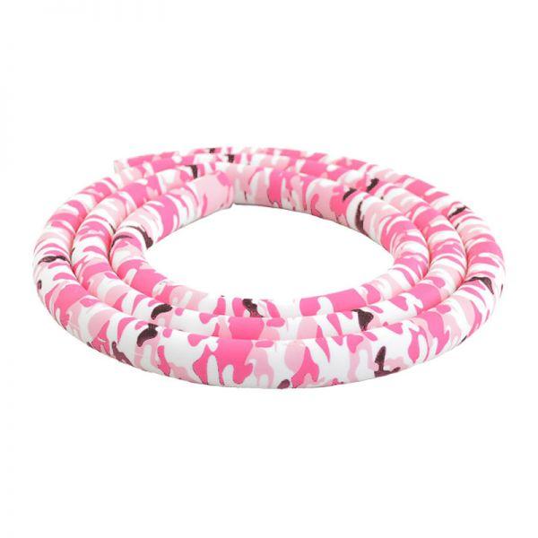 Silikonschlauch Camouflage - Weiß & Pink