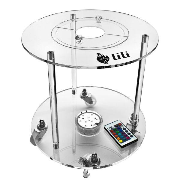 Shisha Tisch LL01- Komplett Set inkl. LED Untersetzer + Werkzeuge