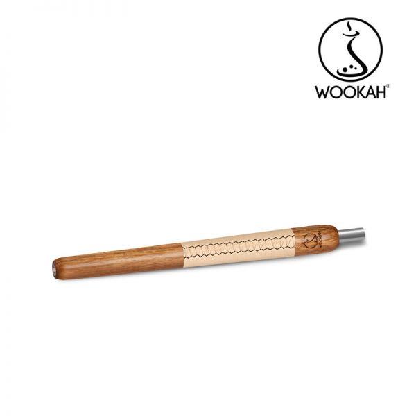 Wookah Holzmundstück - Leder Eiche Beige