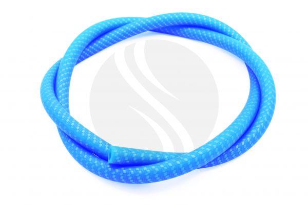 Carbon Schlauch Matt | Silikonschlauch Blau