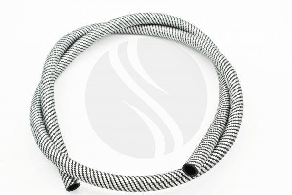 Carbon Schlauch Matt | Silikonschlauch Schwarz- Weiß