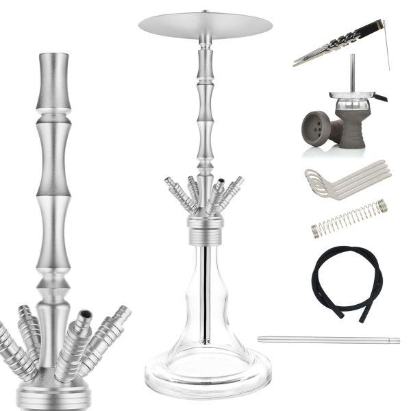Chill Hookah AL-28 Aluminium - Komplett-Set Silber